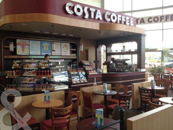 Costa Coffee, Budaörs, Tesco áruház / Costa Coffee, Budaörs, Tesco store #coffee #cafe #interior #design #coninvest #reference #costa