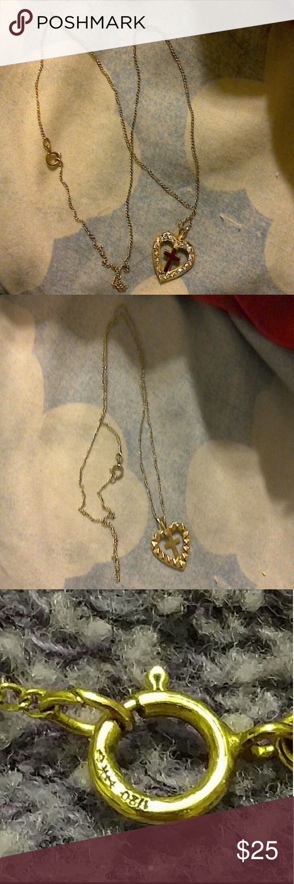 Gold necklace 120 k gold necklace with 6k gold pendent Jewelry Necklaces