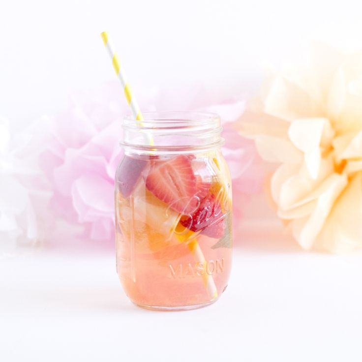 Detox water citron fraise menthe - paperboat.fr