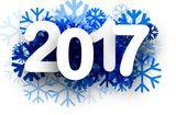 Vecteur : 2017 New Year winter background.
