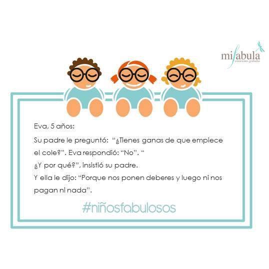 Damos la bienvenida al #findesemana con esta frase genial ;) www.mifabula.com