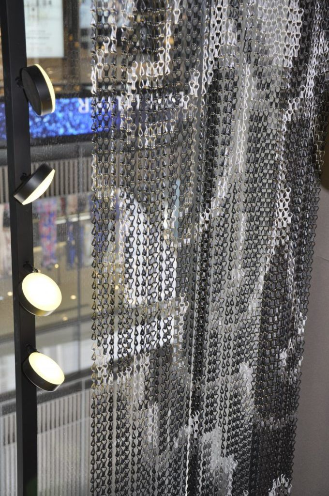 Chain Link Graphic Curtain Aluminium Wire Whatsapp