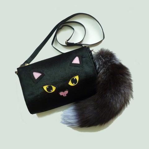 Bright Eyes Bushy Tail Clutch Handbag *Limited edition* - Kate Garey  https://www.kategarey.com/collections/handbags-accessories