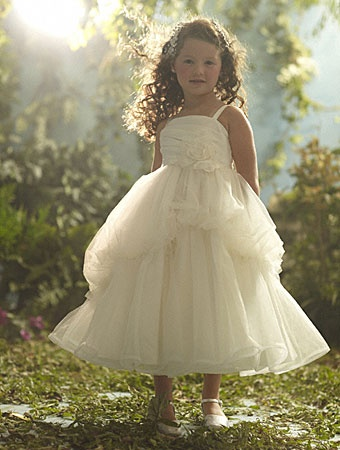 The Adorable Little Flower Girl Dress Designed By Alfred Angelo