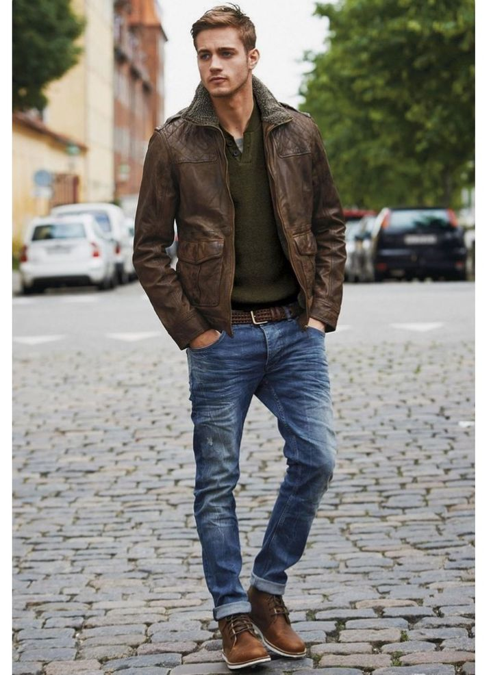 Stitch Fix for Men- Fall outfit inspiration.  Great jacket and jeans!  Shoes are stylish but kinda manly.  Casual.