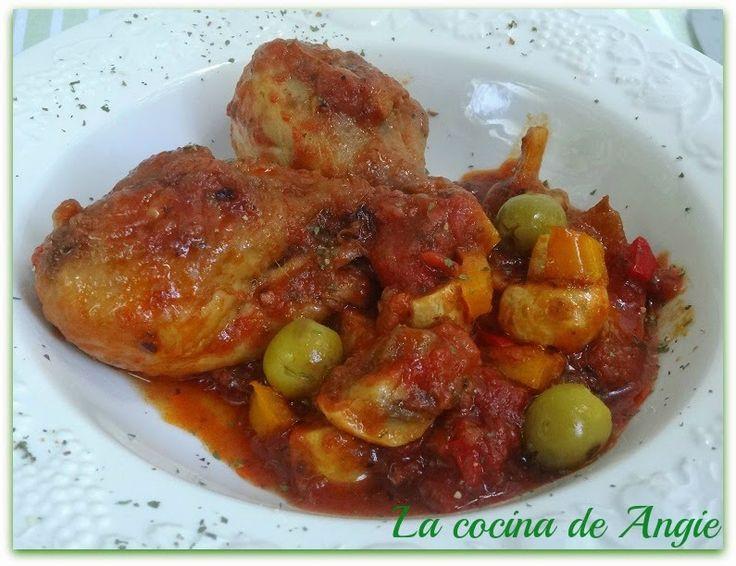 La cocina de Angie: POLLO A LA CAZADORA (ALLA CACCIATORA)