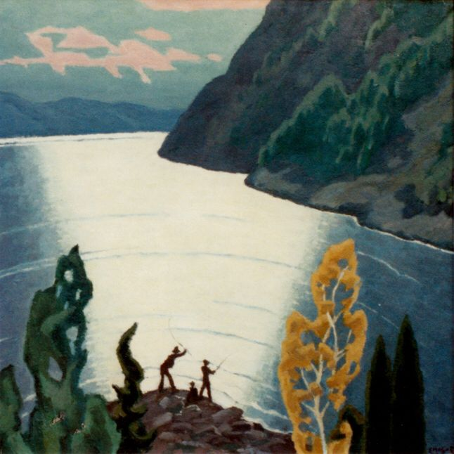 Saguenay River by Edwin Holgate. - See you the fishers?
