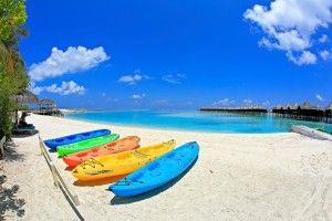 Kayaks in Maldives. Photo by Jonathan Garcia, flickr