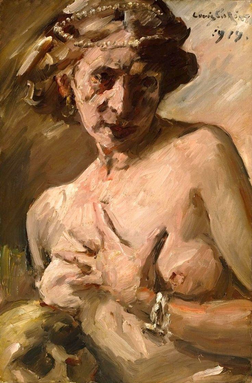 lovis corinth Мария Магдалина с жемчугом в волосах (Magdalen with Pearls in her Hair). 1919. Ловис Коринт (Lovis Corinth), 1858-1925