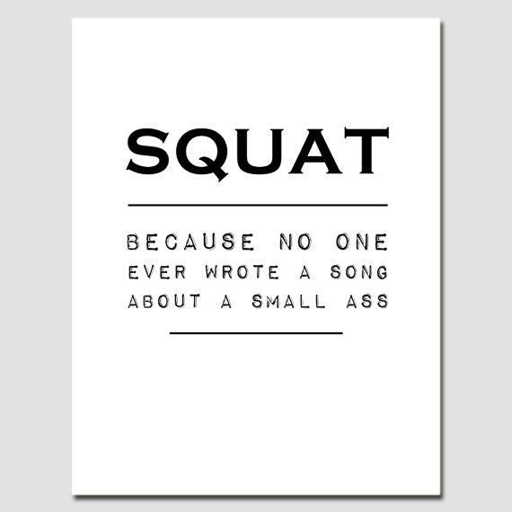 Squat Crossfit Poster Print with Muscular Glutes by SixteenMonkeys