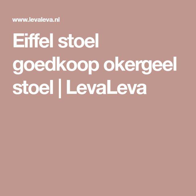 Eiffel stoel goedkoop okergeel stoel | LevaLeva