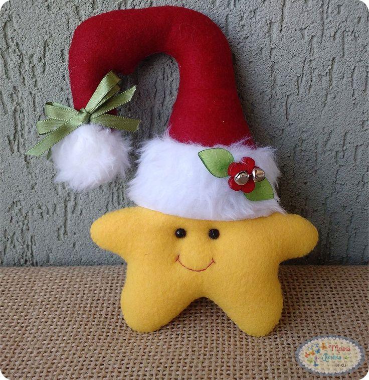 Enfeites de Natal Passo a Passo - Estrela para Maçaneta