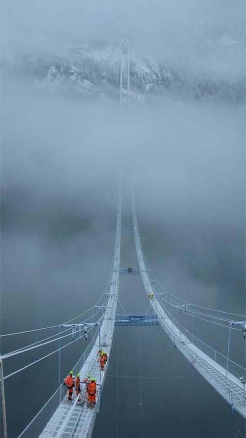 "The Norway Sky Bridge. I'd like to go see it but I don't need to go on it. As in ""no way in hell""!!!:"