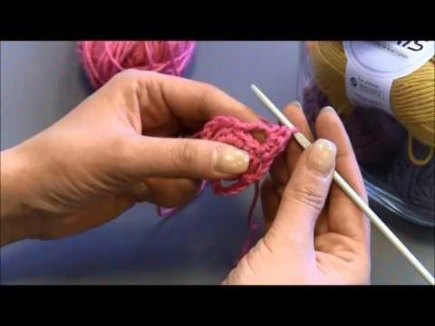 Amalia - Perustekniikoilla virkattu kukka - YouTube