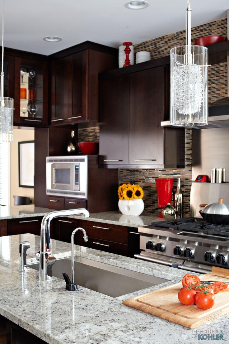 Cosmo condo kitchen showroom paris kitchens toronto - Modern Cabinetry And Fun Lighting