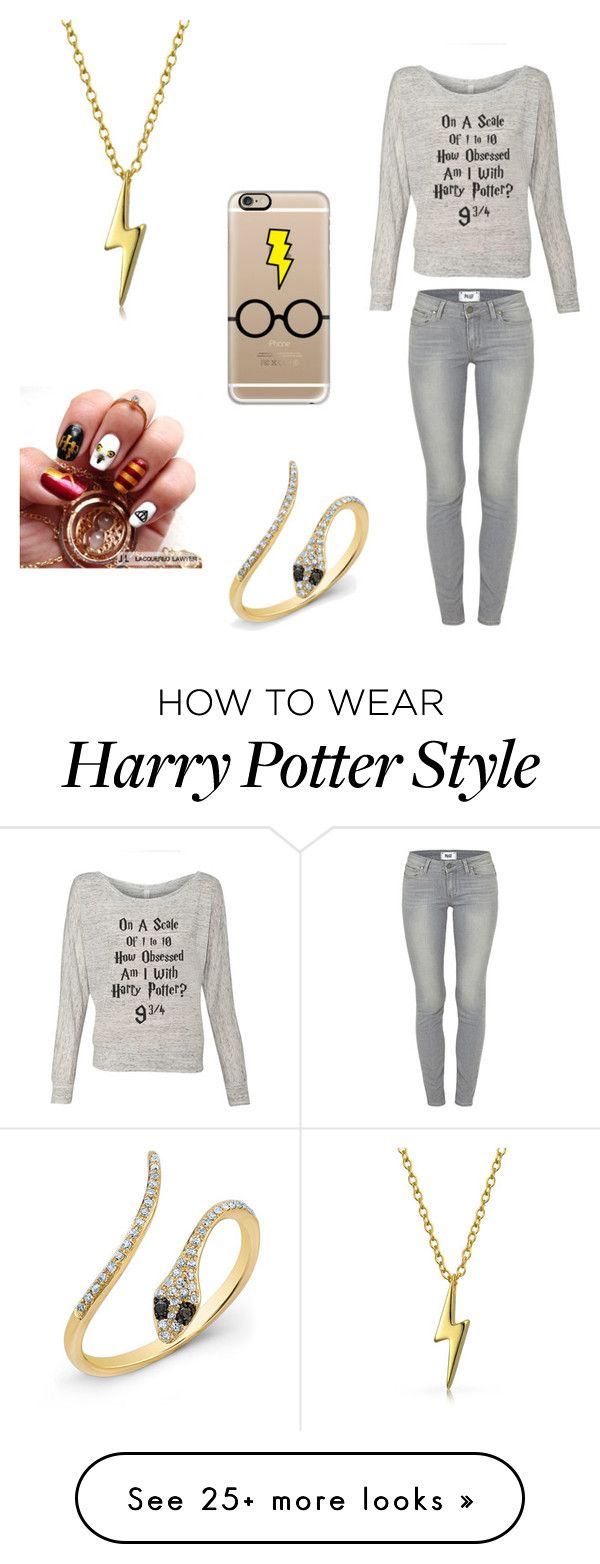 """""""Harry Potter"""" by swiftfox14 on Polyvore featuring Paige Denim, Casetify and Bling Jewelry"""