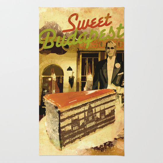 Sweet Budapest – Dobostorta cake at Gerbeaud – Rug, Canvas prints, Gift cards, Tote bags, T-shirts, All over T-shirts, mugs, iPhone cases, iPad sleeves... etc. | Design by András Balogh | Sweet Life – Things to Love series