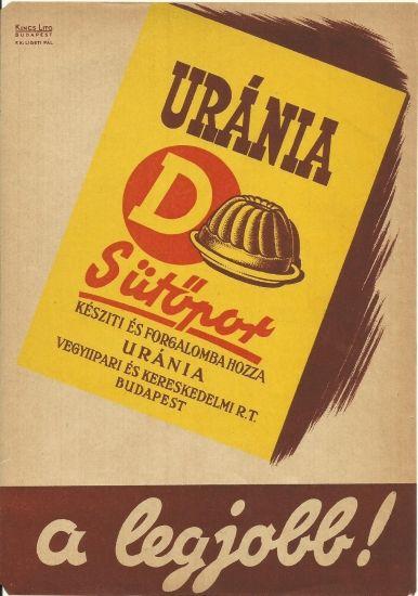 Original vintage advertising  poster 1930s hungary baking powder