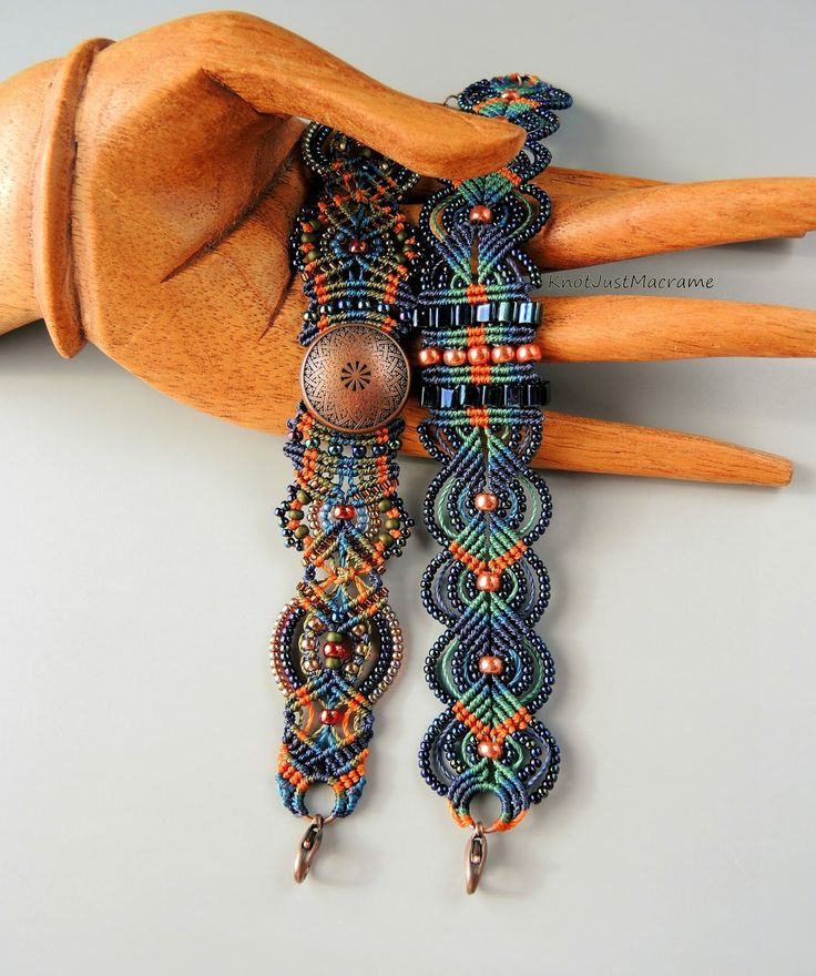 Micro macrame bracelets knotted by Sherri Stokey of Knot Just Macrame.
