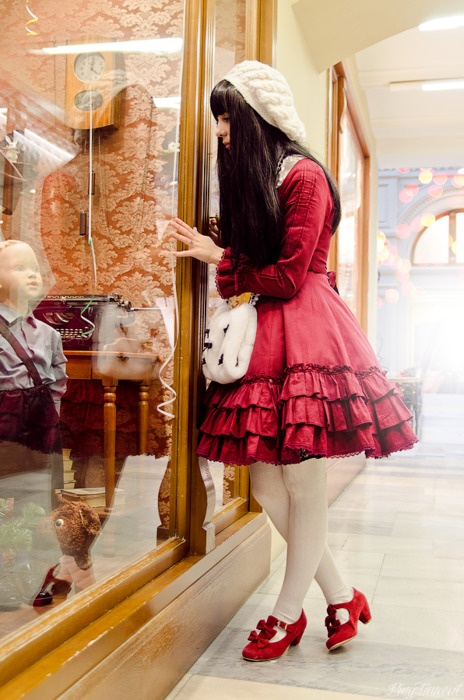 cute all over, and shoes tooInspiration Lolita, Red, Dreams, Classic Lolita, Christmas, Lolita Fashion, Windows Shops, Lolita Photoset, Lolita Style