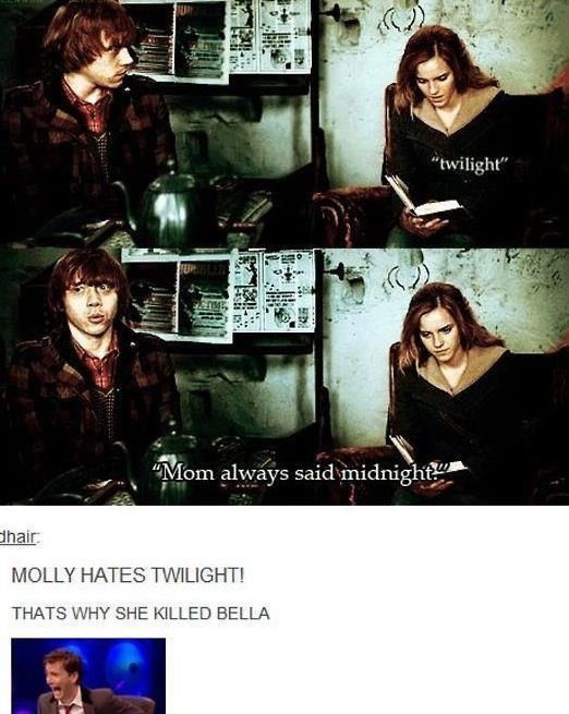 Molly Weasley, for the win.