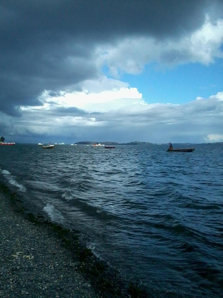 Luz de la tarde en Chiloé, desde Tenaún.