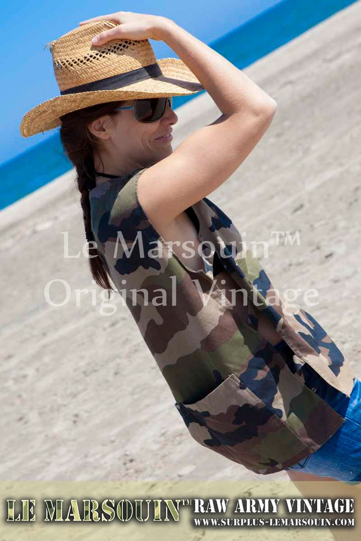 Debardeur militaire femme camouflage