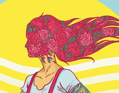 """Check out new work on my @Behance portfolio: """"Messy Girl Heads"""" http://on.be.net/1BLItBR"""