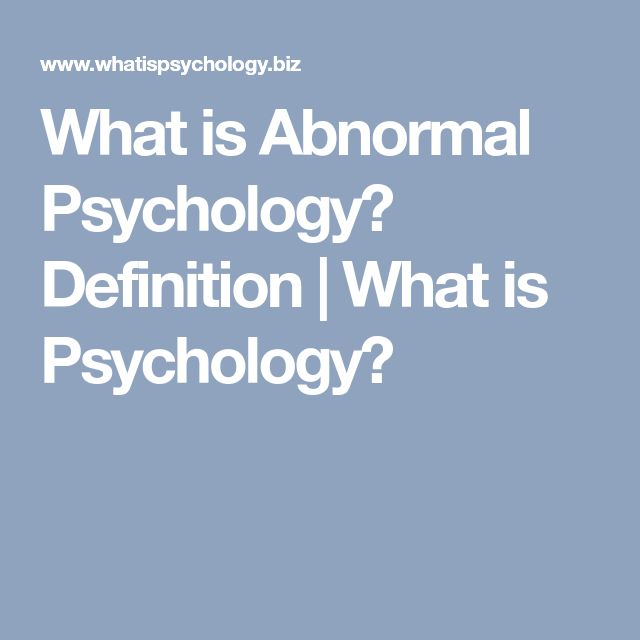 What is Abnormal Psychology? Definition | What is Psychology?