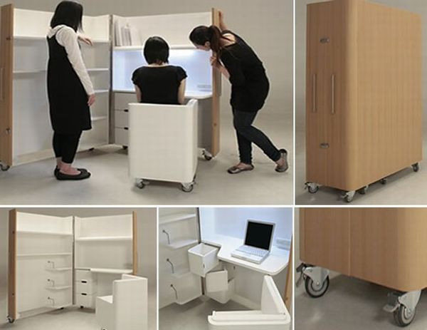 Kenchikukagu Mobile Workstation This Office Folds Up And