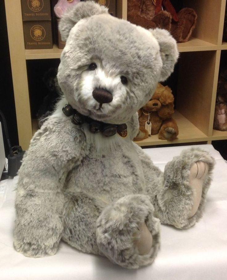 CHARLIE BEARS SOFT AND CUDDLY LARGE TEDDY BEAR BLAINE - FREE UK DELIVERY