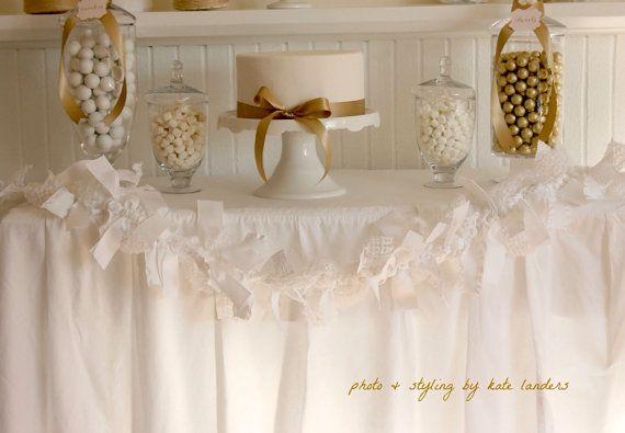 GARLAND for Wedding Cake Table. Wedding by SweetGeorgiaSweet