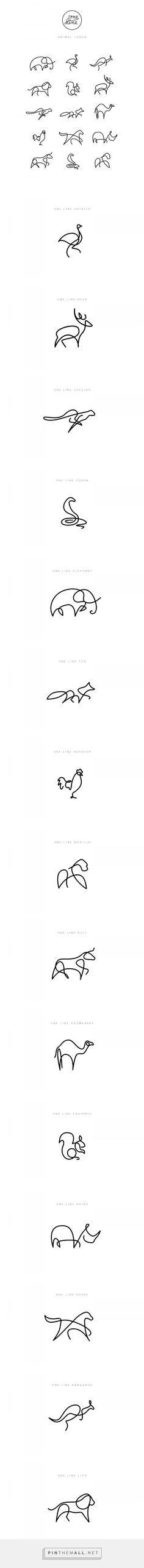 One Line - Animal Logos