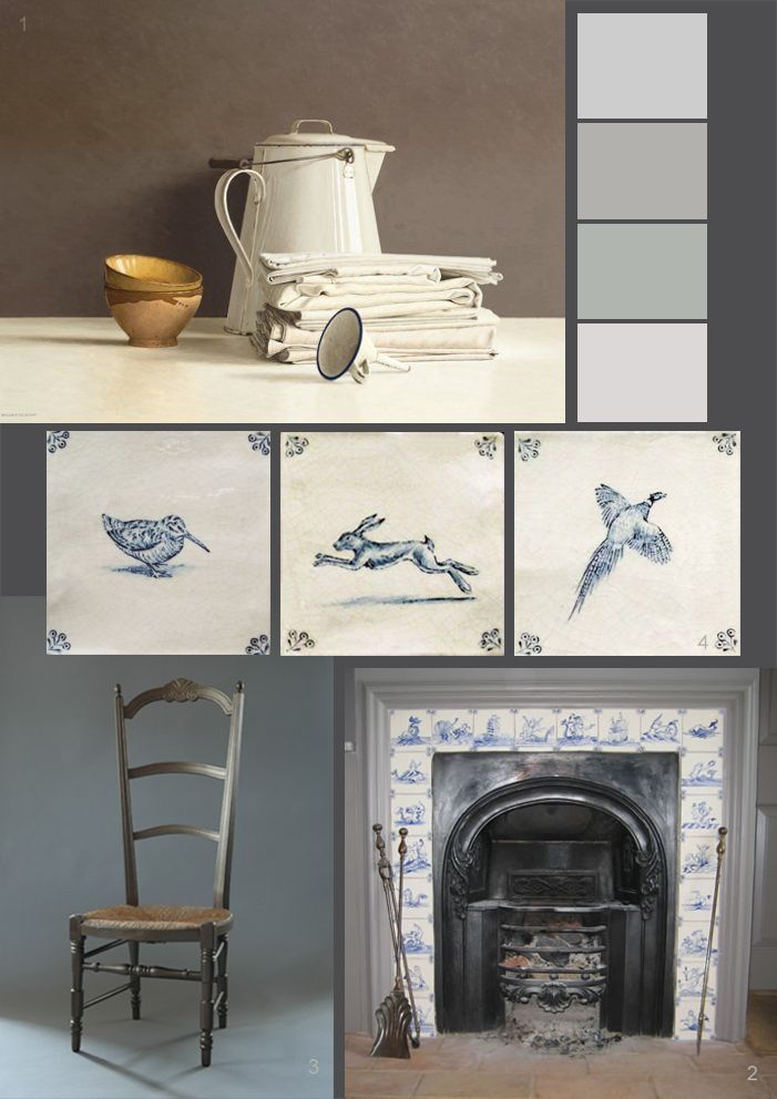 Hand painted English Delft tiles: H & H Tile and Flooring Services Ltd featured at the Paper Mulberry blog