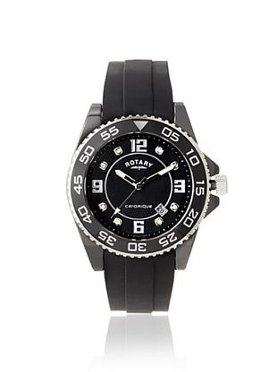82% OFF Rotary Men's CEBRS-37 Ceramique Black Mother of Pearl Silicone Watch