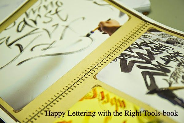 Happy Lettering with the Right Tools is now available both Europe&USA:  USA: http://www.johnnealbooks.com/prod_detail_list/s?keyword=Happy+Lettering  AND EUROPE http://calligraphity.com/store/product963.html