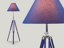 Navy Tripod Floor Lamp, Nautical Blue #letscolour