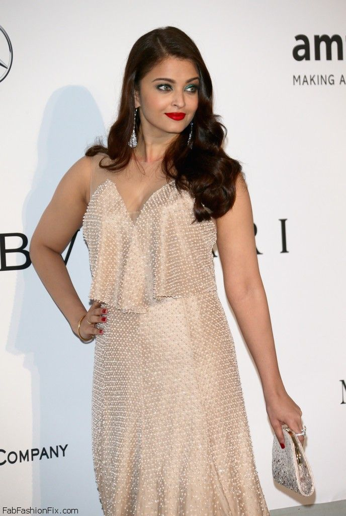 Aishwarya Rai in Armani prive gown at 2014 Cannes amfAR Gala.