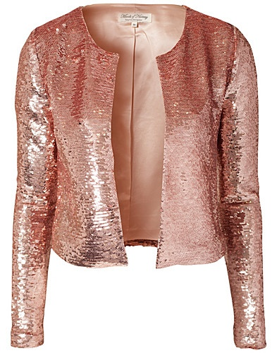 Pink Sequin Glitter Jacket-Moods of Norway