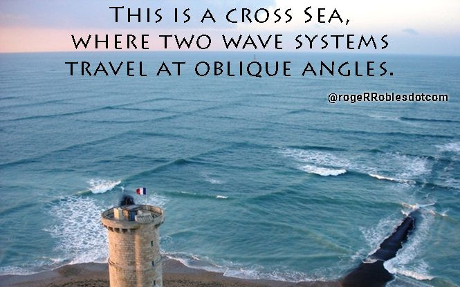 This is a cross Sea, where two wave systems travel at oblique angles.  #FlowLikeTheOcean #OceanMakingLove #ReadTheSigns #YouCreateYourOwnReality #NeverGiveUp #BeautyBehindTheMadness #HigherConsciousness #PursuitOfHappiness #Life
