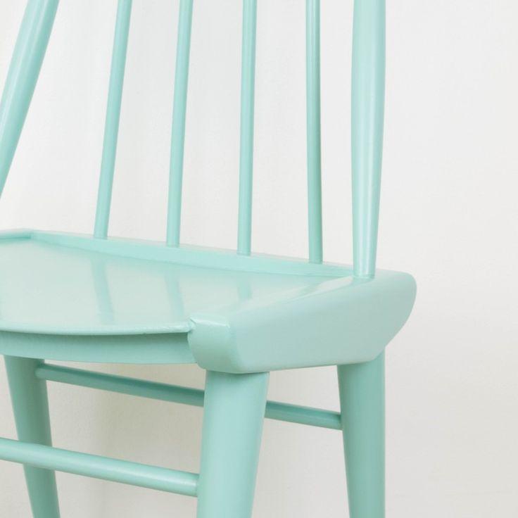 Silla Patricia, estilo escandinavo color aguamarina | Sillas | Muebles