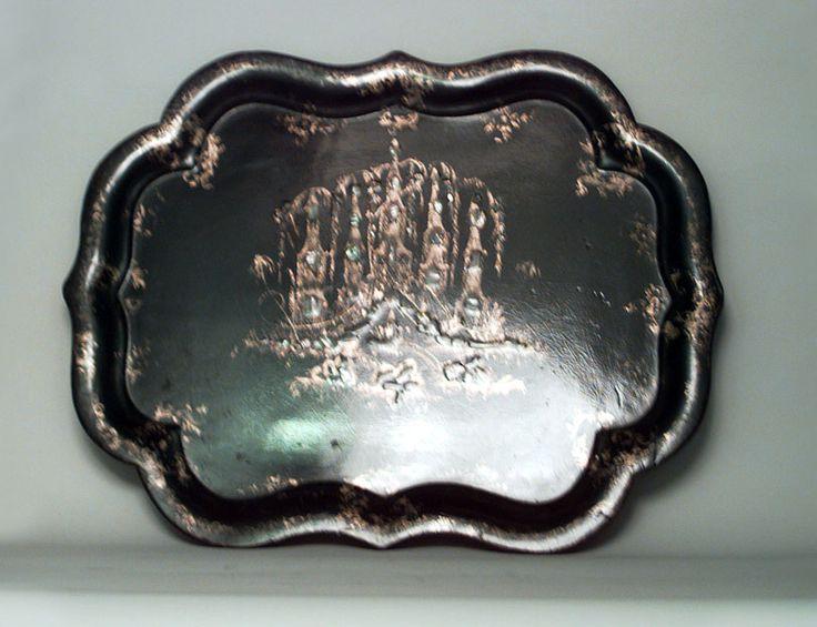 English Papier Mache Accessories Tray Serving Platter