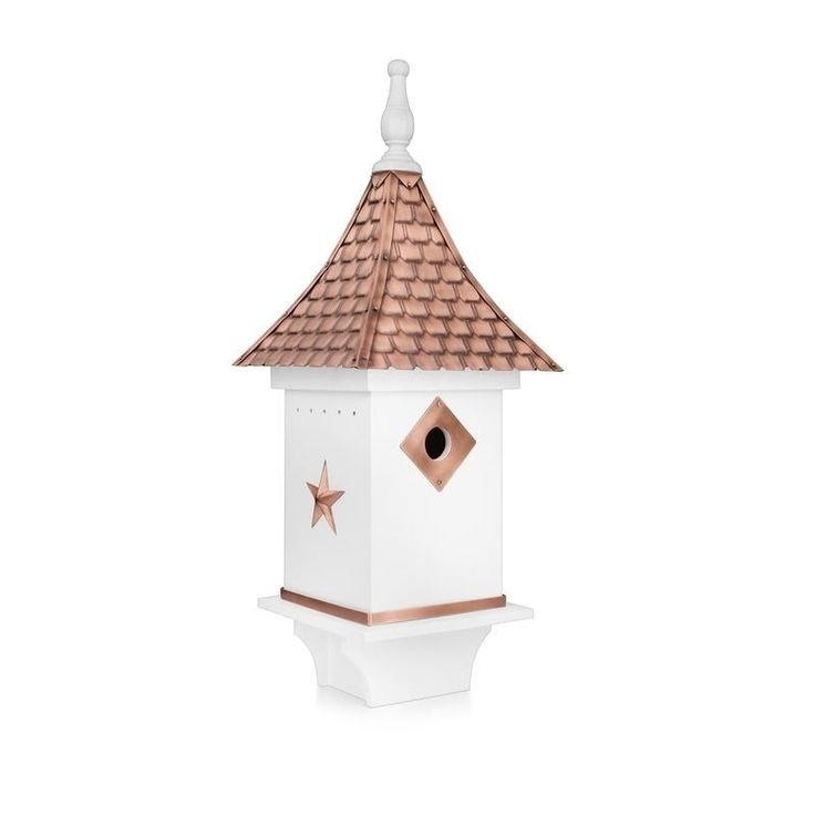 Best Villa Bird House White With Pure Copper Roof By Good 400 x 300