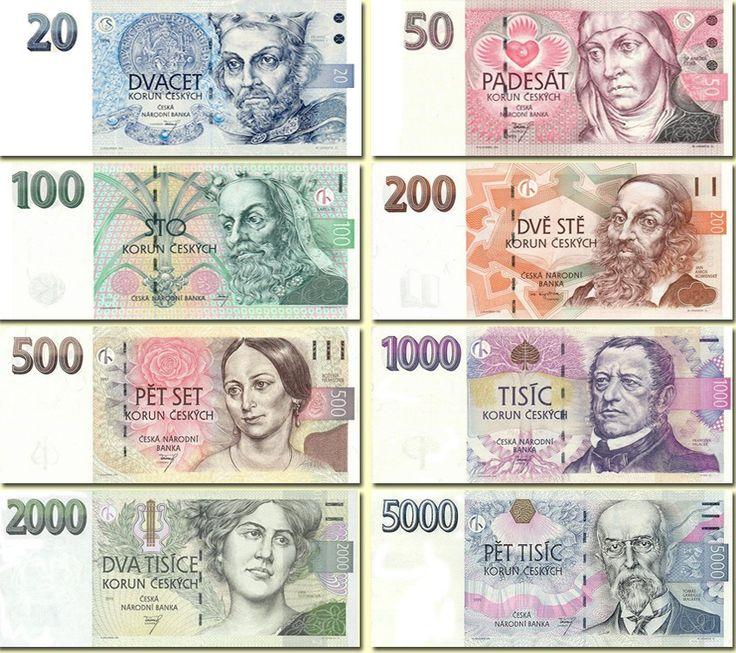 Dit is de Tsjechische valuta. In Tsjechië betalen ze (nog) met Tsjechische kronen.
