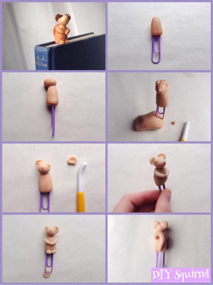 DIY Polymer Clay Squirrel.