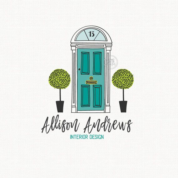 Door Logo Design Interior Designer Real By Stylemesweetdesign Graphic Pinterest Logos And