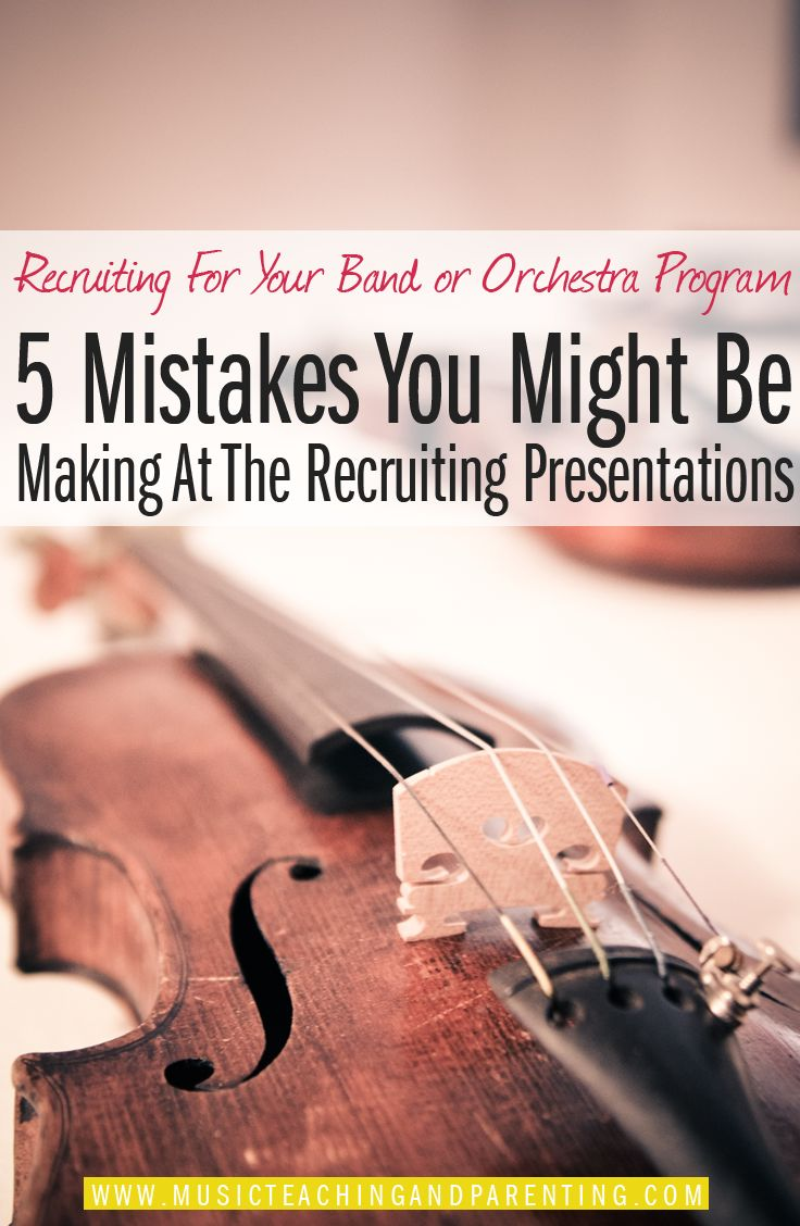 Music Teaching Resources for Recruiting Orchestra and Band students. We all want as many students as possible to gain the benefits of studying music! Do you know that teachers sometimes make small mistakes that drive students away from your program instead of getting them enthusiastic to join? See these nice music teaching tips and resources that will help you grow your program even more!