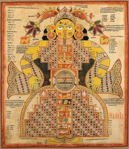 Puṛuṣa: The Primordial being from whose dismembered body creation sprang.