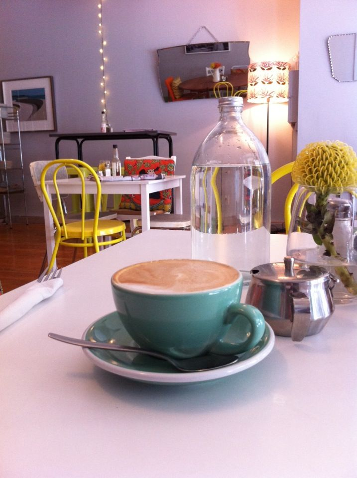 The Canteen in Wellington - yummy salads & cosy decor.