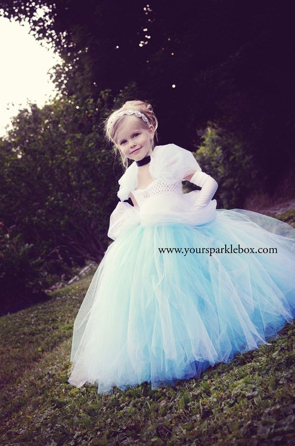 Cinderella Tutu Dress | by Your Sparkle Box for a flower girl dress for a Disney or Princess themed wedding